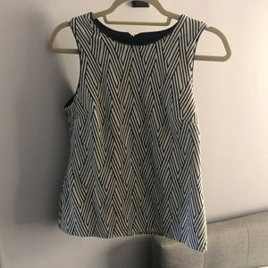 Banana Republic tank with Leather piping detail